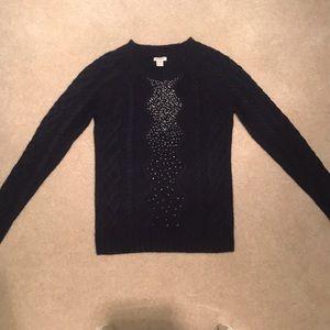Navy Bling J Crew Sweater